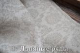 лен-жаккард серый