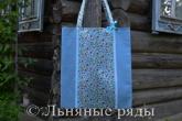 сумка летняя льняная