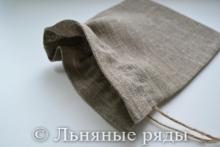 Льняной мешочек для упаковки