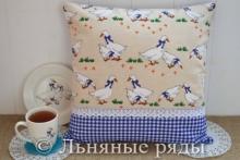 подушка гуси