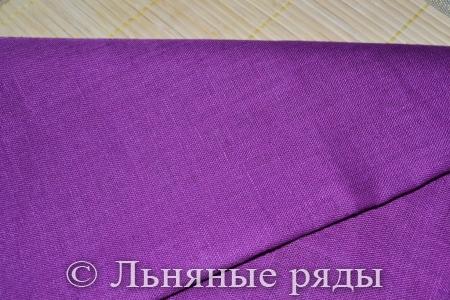 Натуральный лен фиолетовый