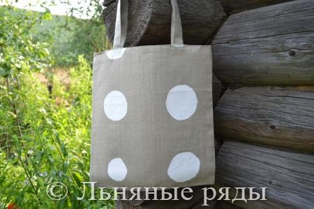 льняная эко-сумка