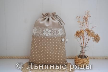 мешочек в горошек для хлеба