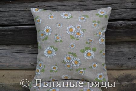 подушка ромашки