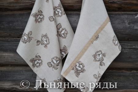 полотенце с розами