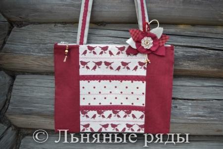 сумка бордовая