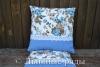 подушки голубые