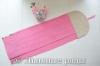 Льняное розовое полотенце